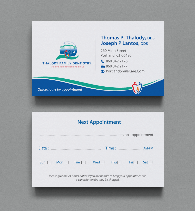 Serious, Modern, Dental Clinic Business Card Design for a Company by ...