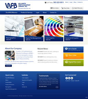 Wordpress Design by pb - Digital Imaging Website Design Project