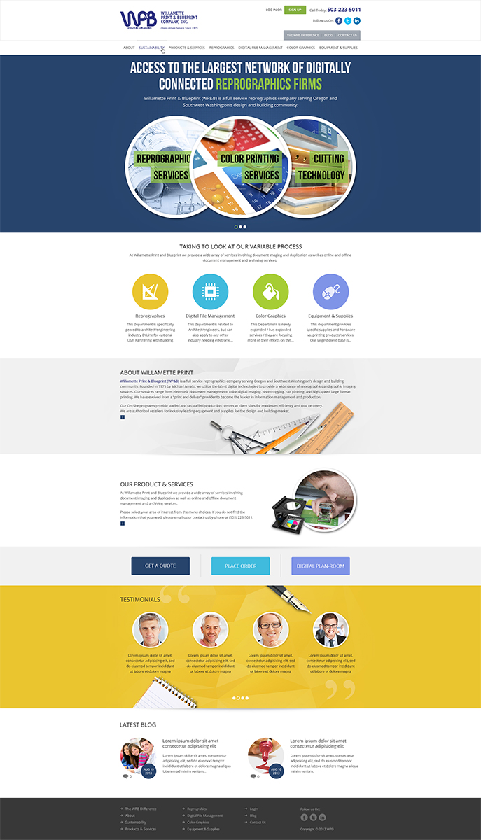 Colorful, Modern, Electronic Wordpress Design for a Company by ESolz