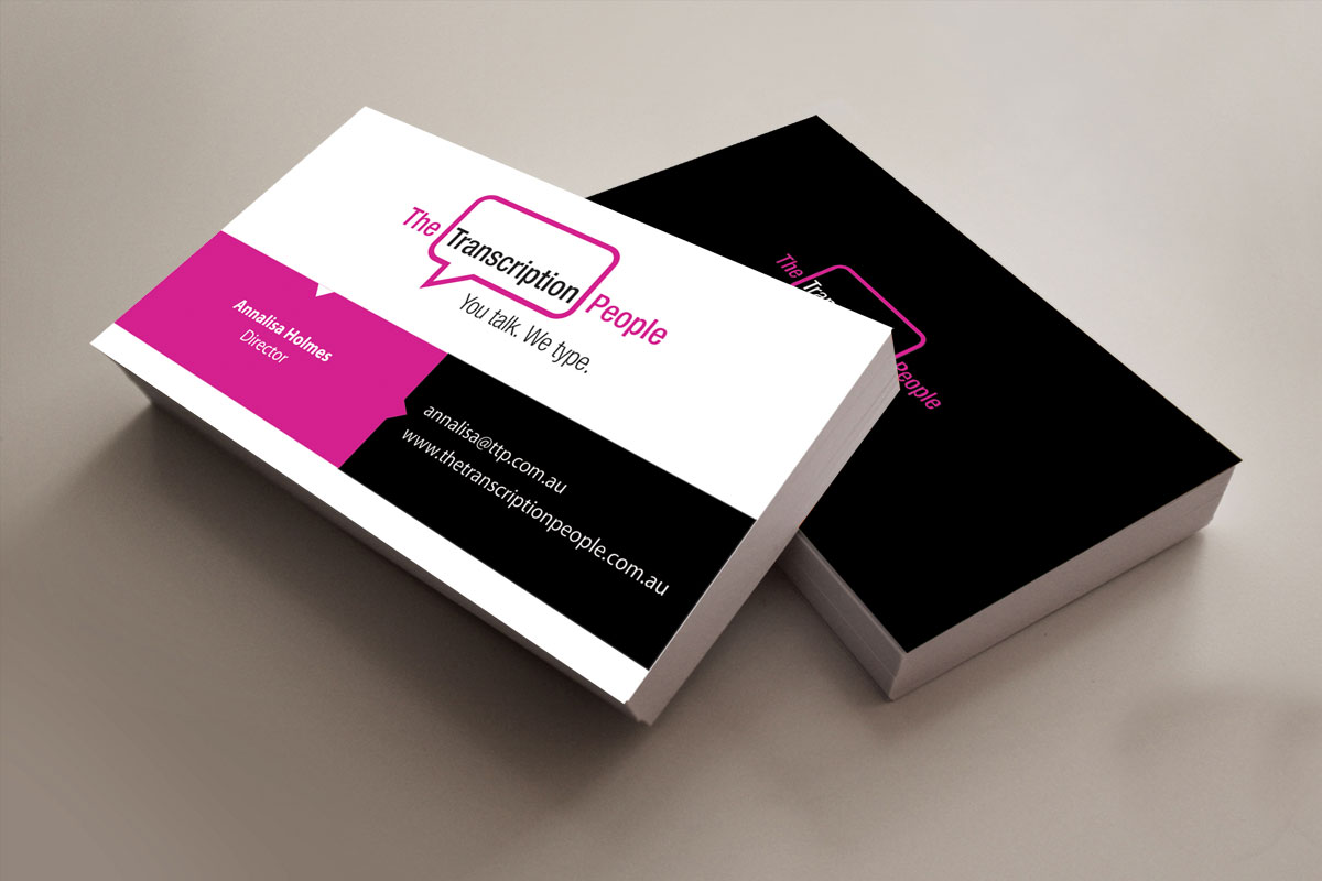 Business business card design for the transcription people pty ltd business business card design for the transcription people pty ltd in australia design 9784973 colourmoves