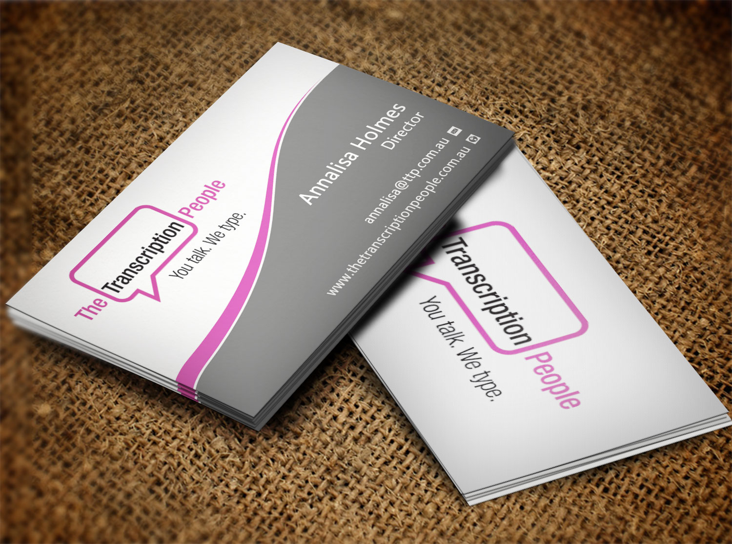 Business business card design for the transcription people pty ltd business business card design for the transcription people pty ltd in australia design 9784089 colourmoves