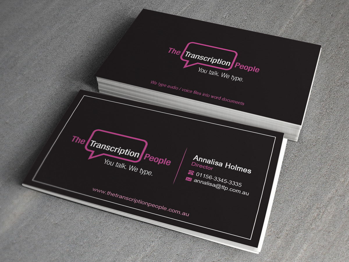 Business business card design for the transcription people pty ltd business business card design for the transcription people pty ltd in australia design 9794682 colourmoves
