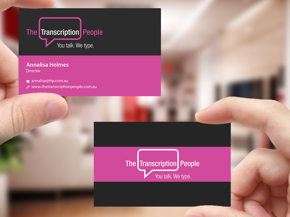Business business card design for the transcription people pty ltd business business card design for the transcription people pty ltd in australia design 9796118 colourmoves