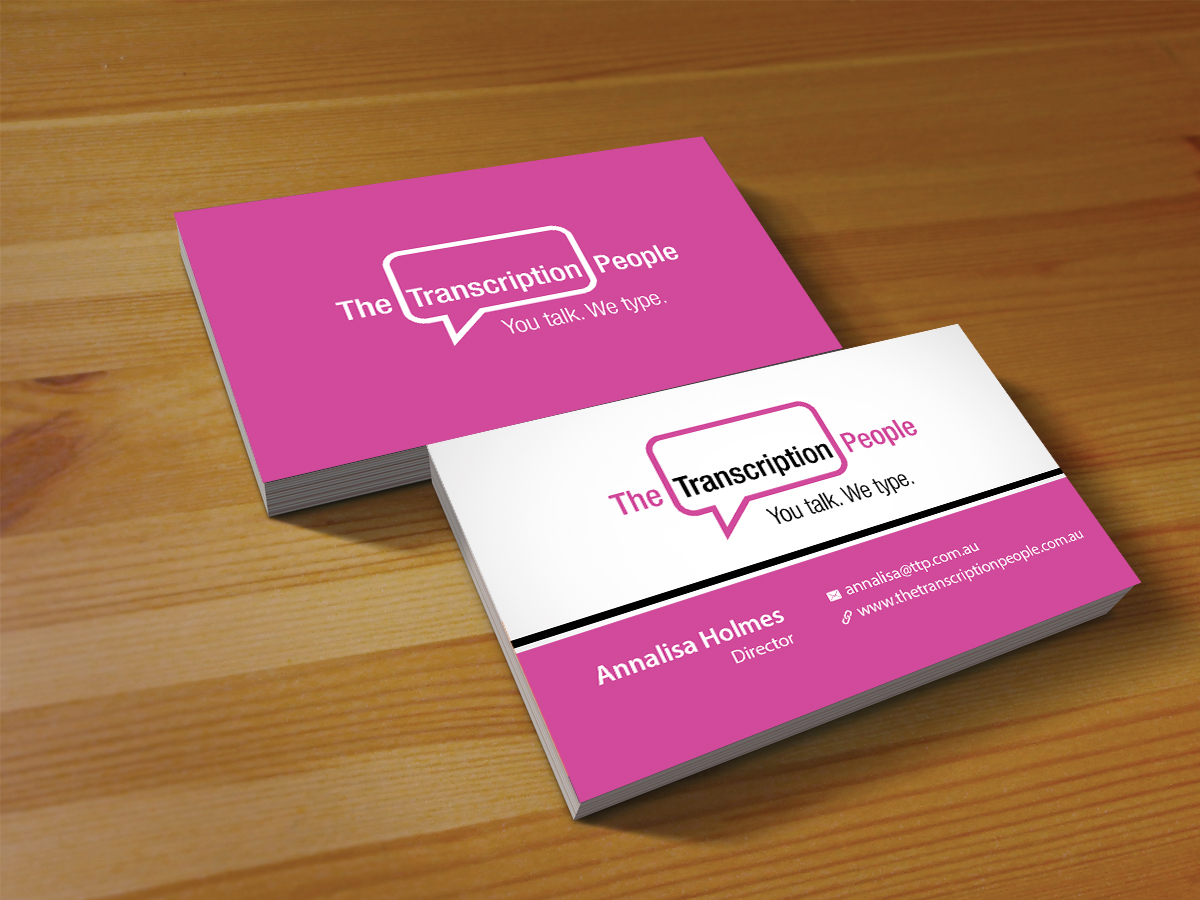 Business business card design for the transcription people pty ltd business business card design for the transcription people pty ltd in australia design 9796136 colourmoves