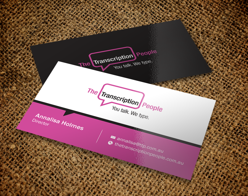 Business business card design for the transcription people pty ltd business business card design for the transcription people pty ltd in australia design 9795240 colourmoves
