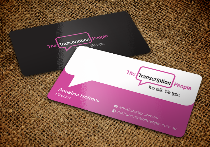 Business business card design for the transcription people pty ltd business business card design for the transcription people pty ltd in australia design 9792185 colourmoves