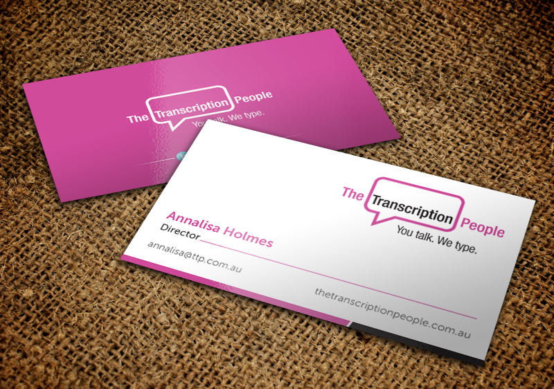 Business card design for the transcription people pty ltd by business card design by chandrayaaneative for typing service business card design design colourmoves