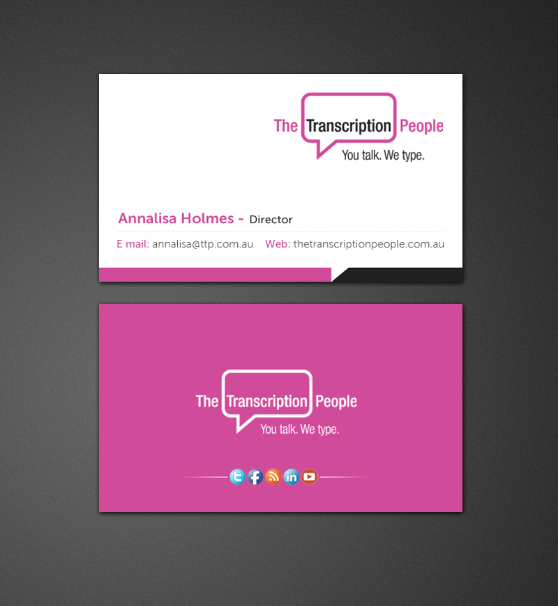 Business business card design for the transcription people pty ltd business business card design for the transcription people pty ltd in australia design 9795099 colourmoves