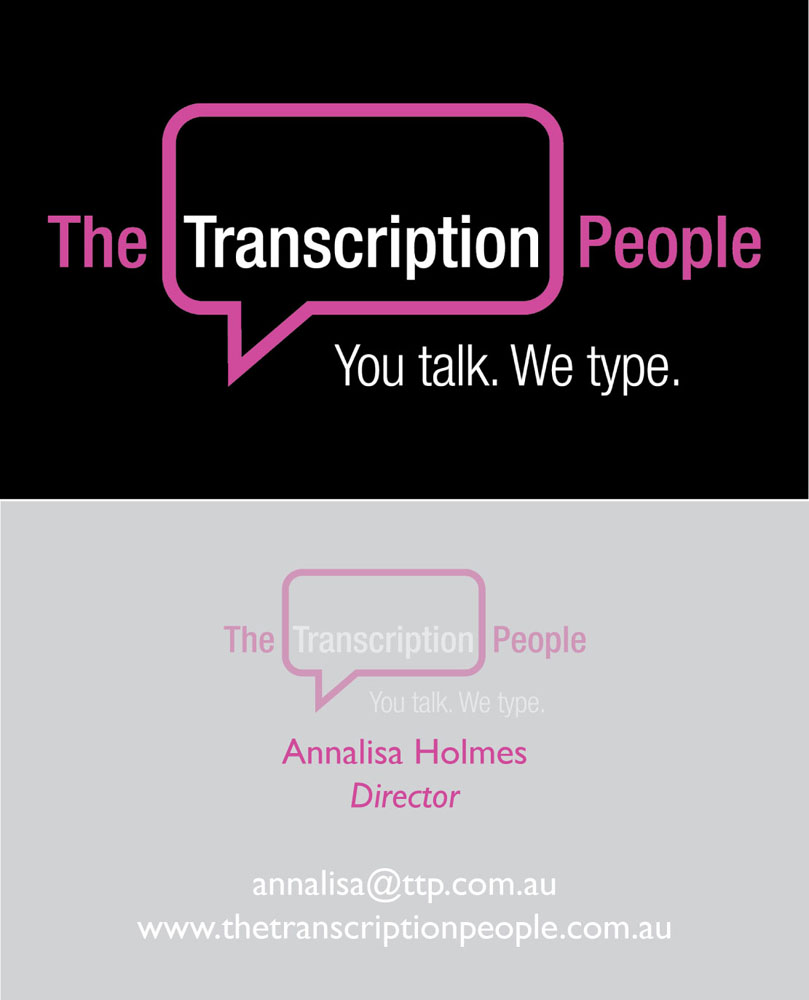 Business business card design for the transcription people pty ltd business business card design for the transcription people pty ltd in australia design 9792746 colourmoves