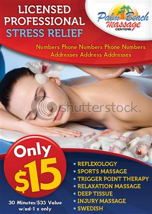 Print Design job – Massage Center New Ad – Winning design by Ekanite