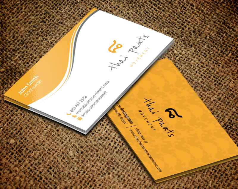 Modern Professional Clothing Business Card Design For The Thai Pants Movement By Chandrayaan Creative Design 9795159
