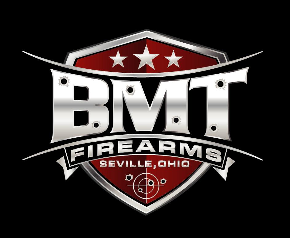 Bold serious gun logo design for bmt firearms seville for Design lago