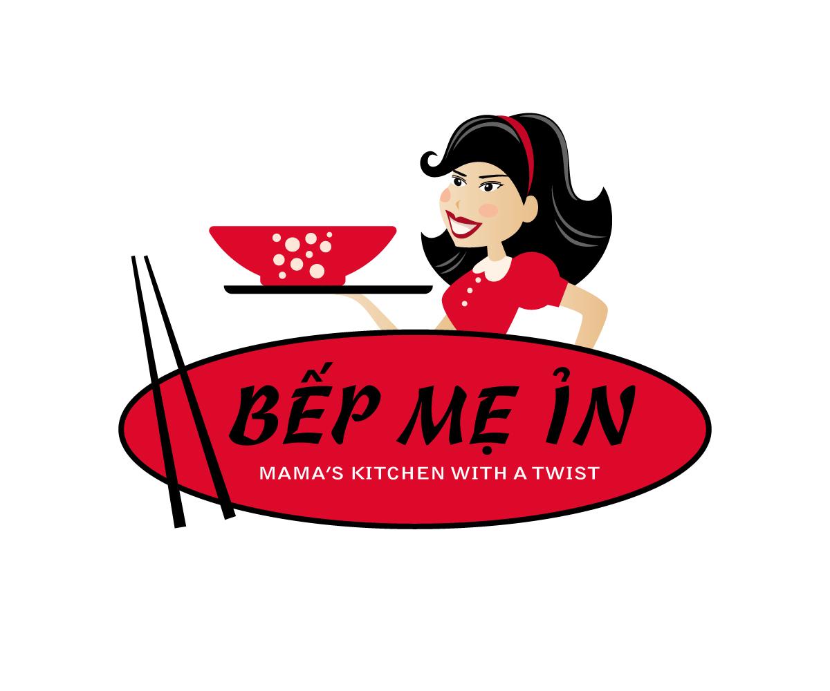 Playful Feminine Restaurant Logo Design For Bếp Mẹ ỉn Mama S Kitchen With A Twist By Studio 54 Design Design 9905293