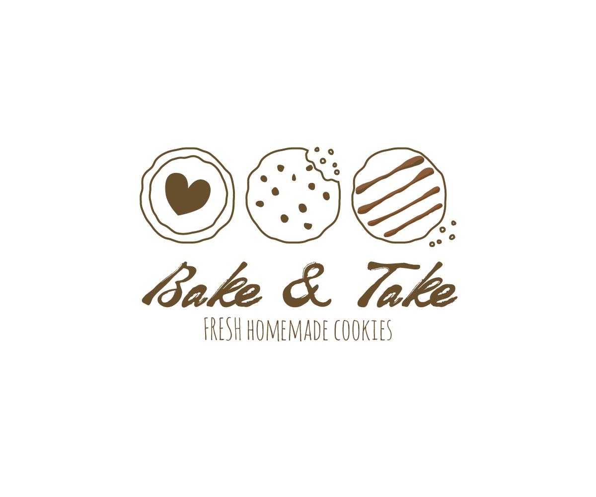 Playful, Elegant, Bakery Logo Design For Bake & Take Or