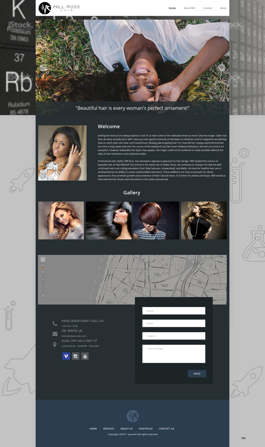 Upmarket, Modern, Hair And Beauty Web Design for Stylist Will Ross