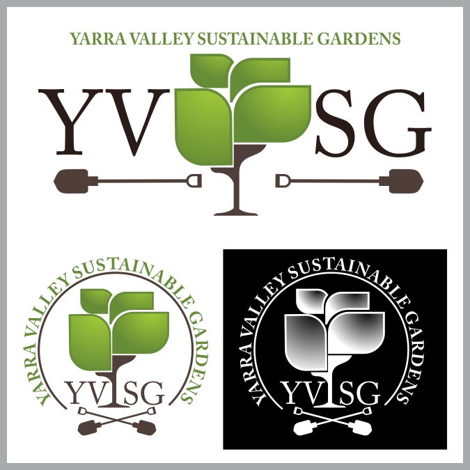 Logo design for yarra valley sustainable gardens by reyes for Garden design yarra valley
