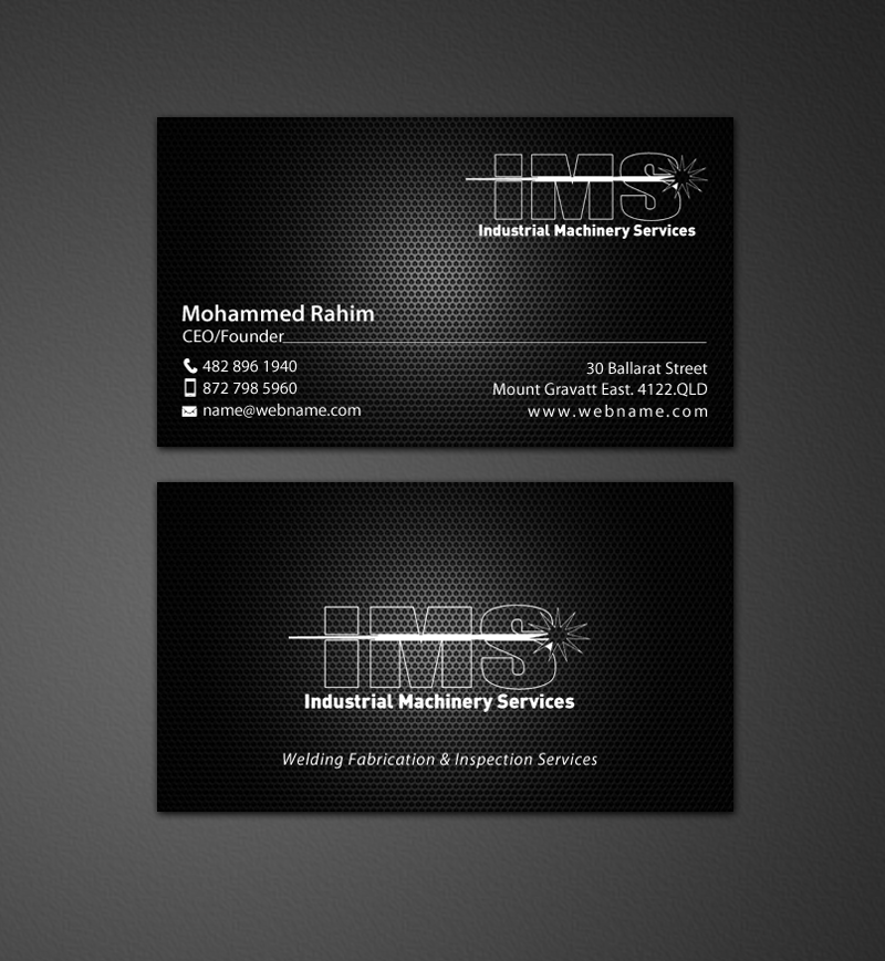 business card design by chandrayaancreative for this project design 9831803 - Welding Business Cards