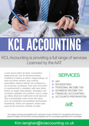 28 Elegant Flyer Designs | Accounting Flyer Design Project for KCL