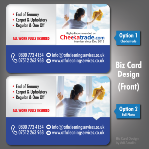 223 Upmarket Bold House Cleaning Business Card Designs for a House ...