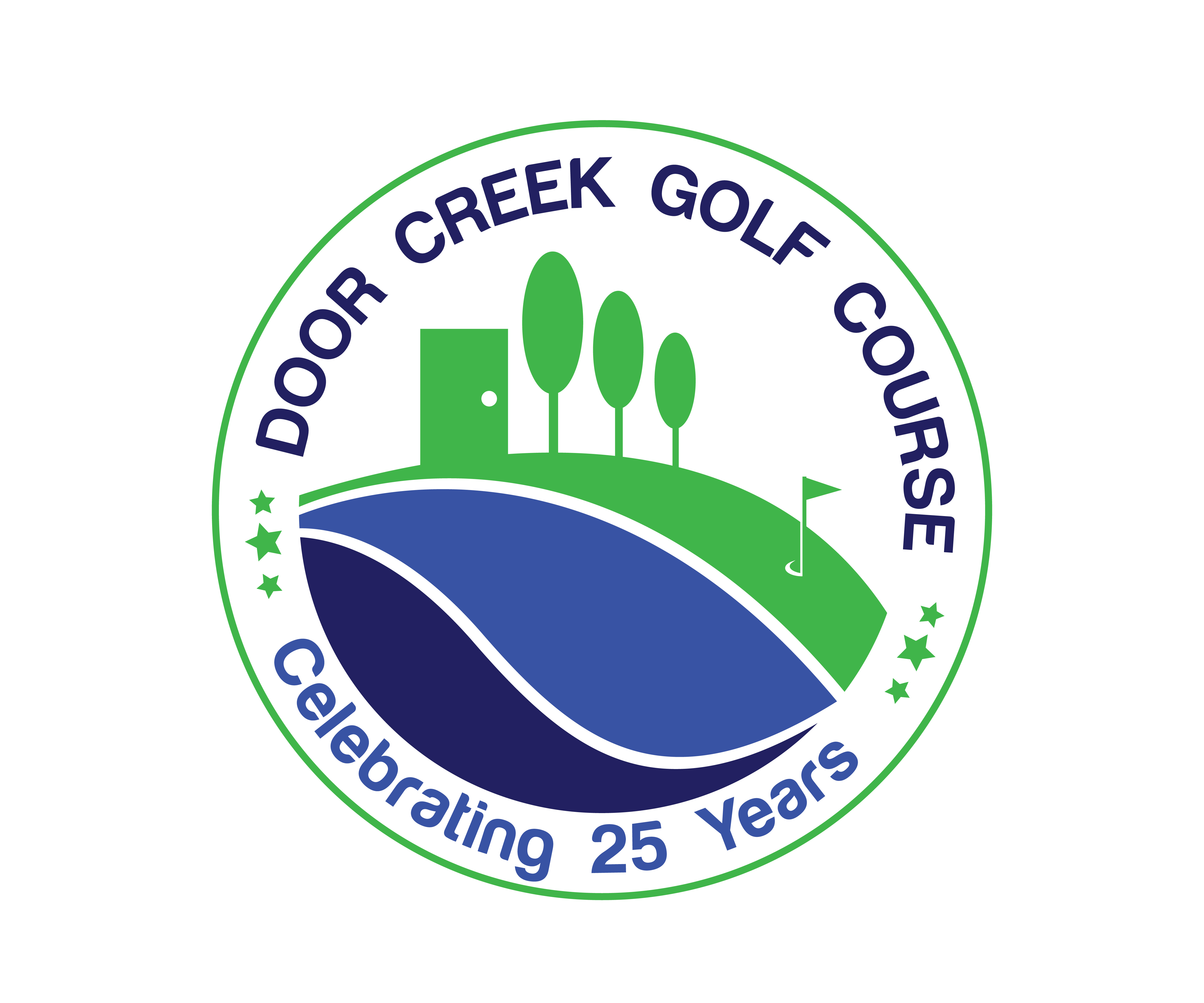 Playful Personable Logo Design For Door Creek Golf Course