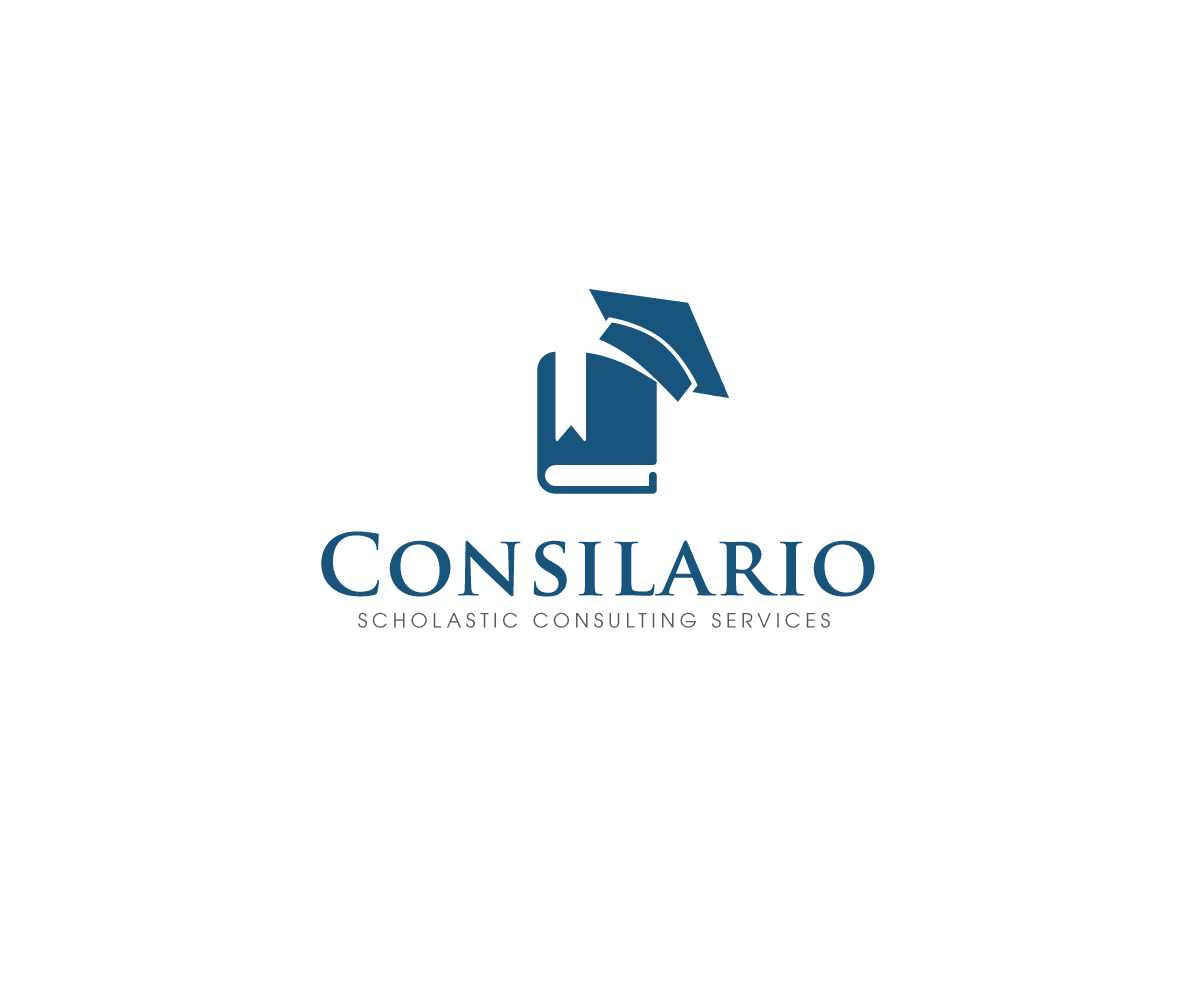 Masculine bold education logo design for consilario for Design consulting services