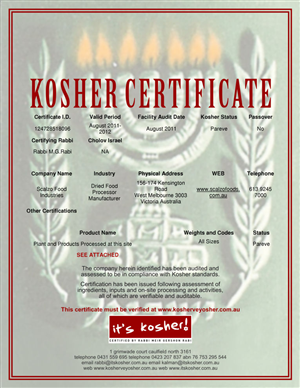 Poster Design job – kosher certificate – Winning design by Atvento Graphics