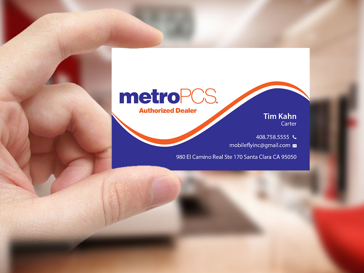 Business Card Design For Mobilefly Inc By Creations Box 2015