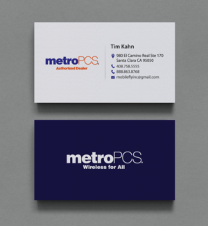 MetroPCS Authorized Dealer | 245 Business Card Designs for mobilefly inc