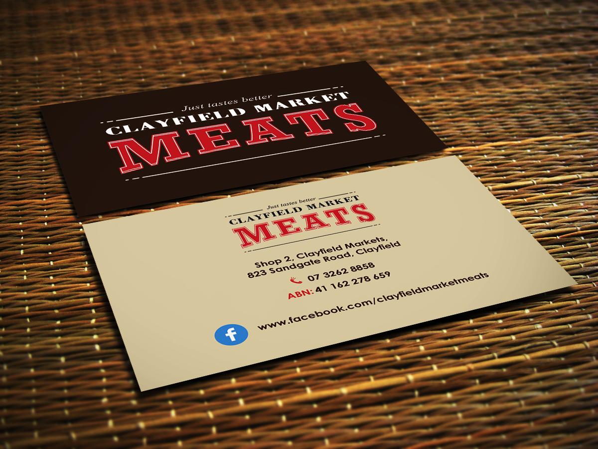 Design De Carte Visite Haut Gamme Srieux Business Pour Clayfield Market Meats En Aux Australia
