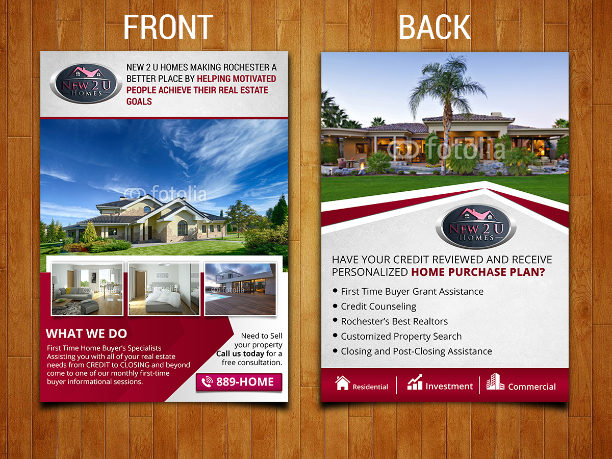 modern professional real estate flyer design for a company by sd