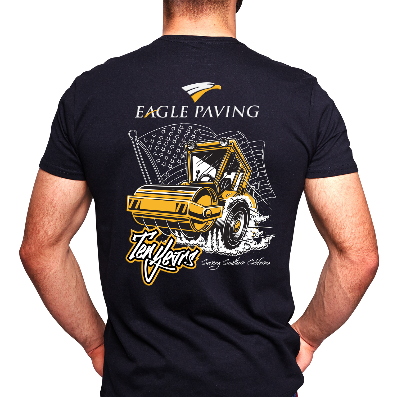 T shirt design job - T Shirt Design Job Eagle Paving 10th Year Anniverssary Winning Design By 20