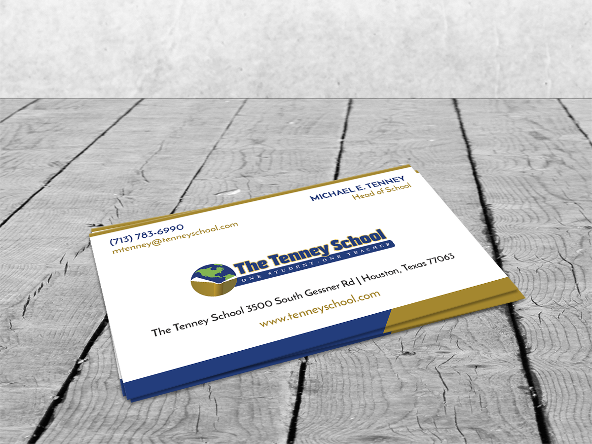 Serious, Traditional, Education Business Card Design for a Company ...