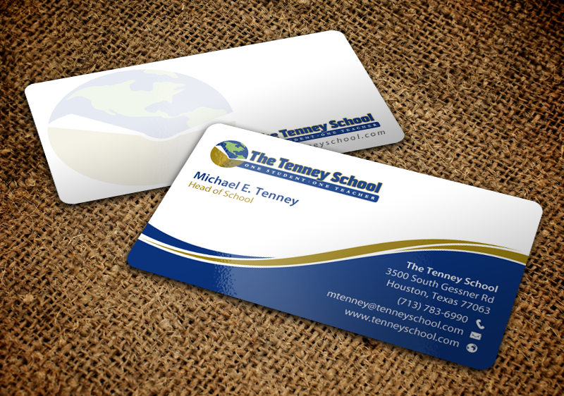 Serious traditional education business card design for a company business card design by chandrayaaneative for this project design 9878133 reheart Images