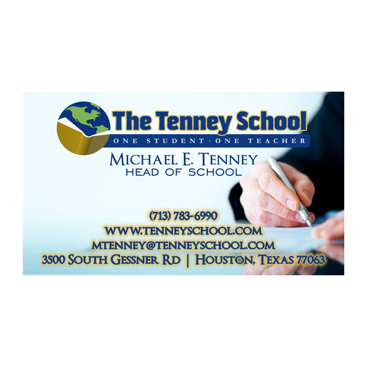 serious traditional business card design for michael tenney by