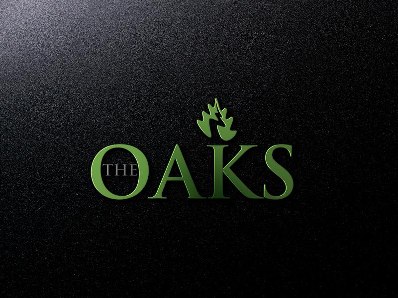Elegant Playful Real Estate Development Logo Design For The Oaks