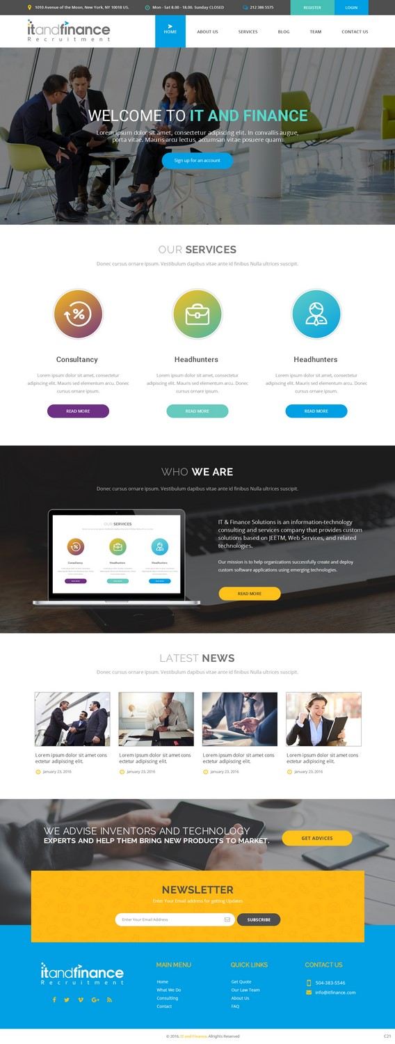 Traditional elegant business consultant web design for for Web design consultant
