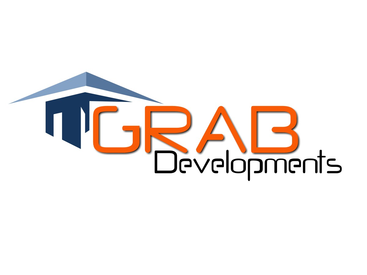 Upmarket modern building logo design for grab for Rohan design