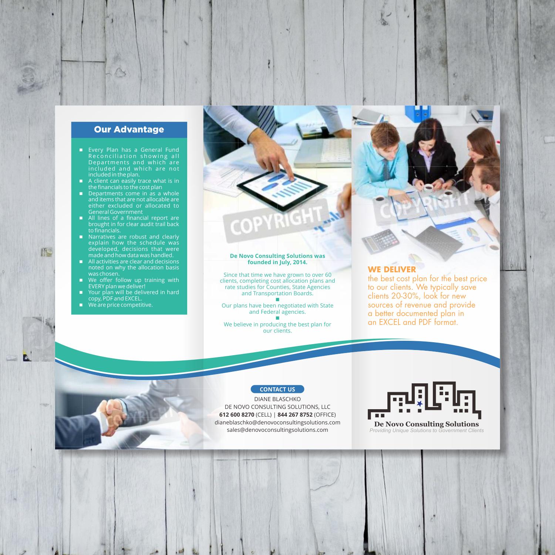Bold Colorful Flyer Design for De Novo Consulting Solutions LLC – Sales Flyer Design