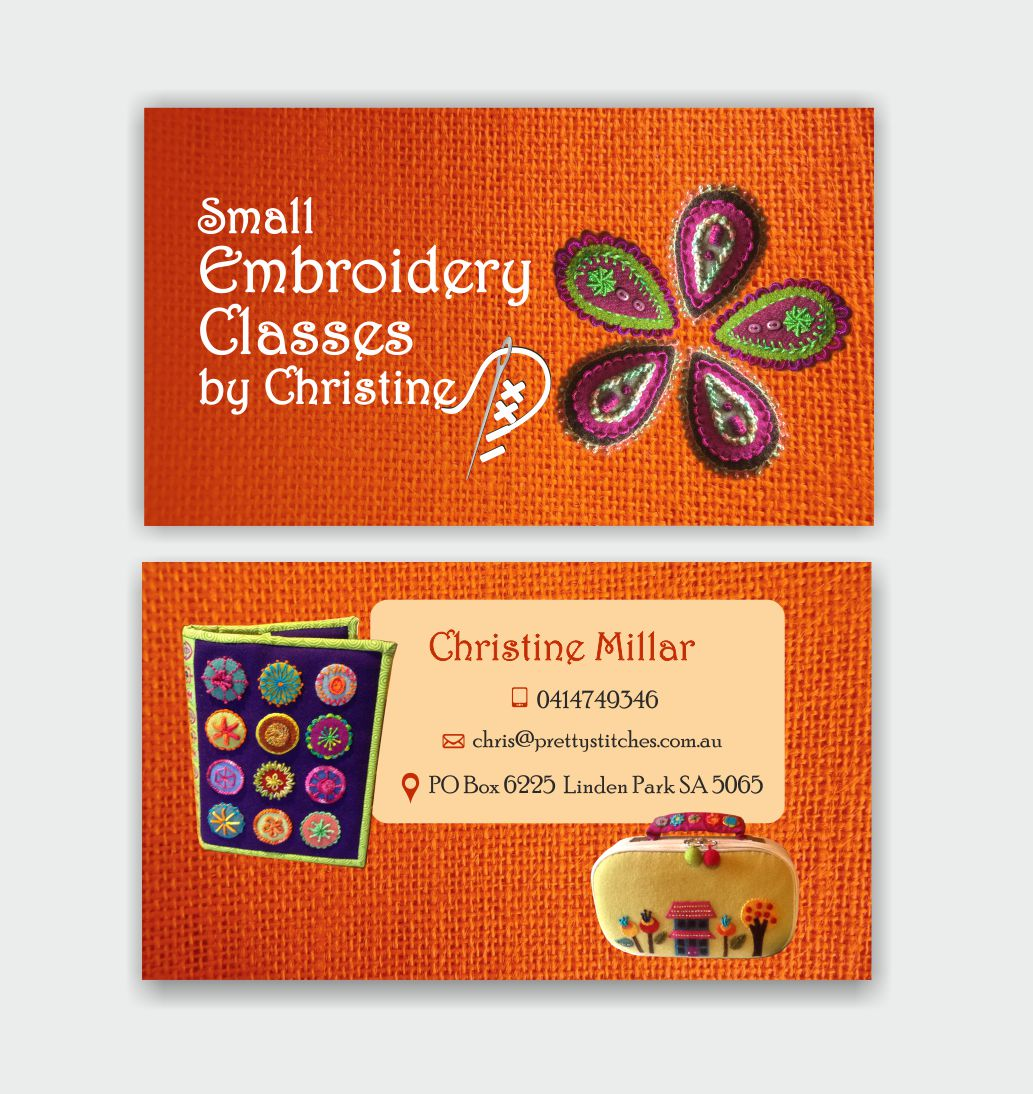 Embroidery Business Card Design for M2M Business ^Property Pty Ltd ...