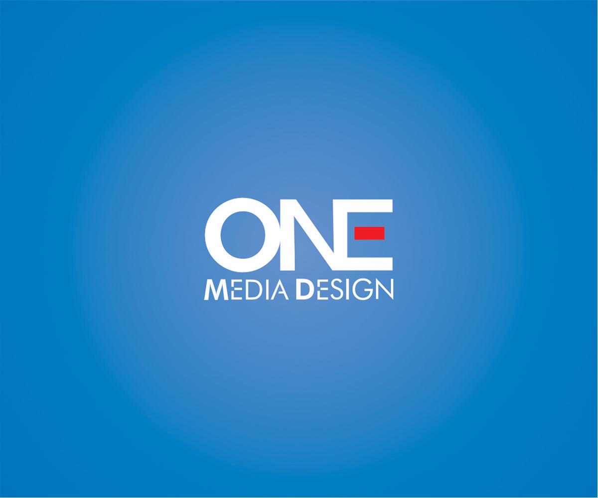 digital logo design for one media design by