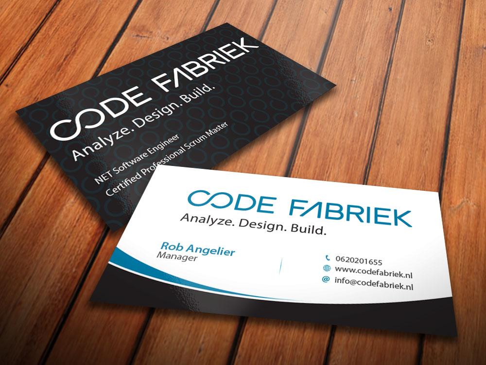 Modern, Upmarket, Computer Software Business Card Design for a ...