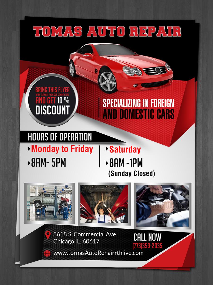 39 Serious Bold Car Repair Flyer Designs for a Car Repair ...