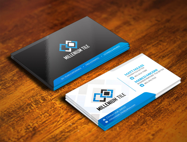 Tile Business Working : Elegant playful business card design for