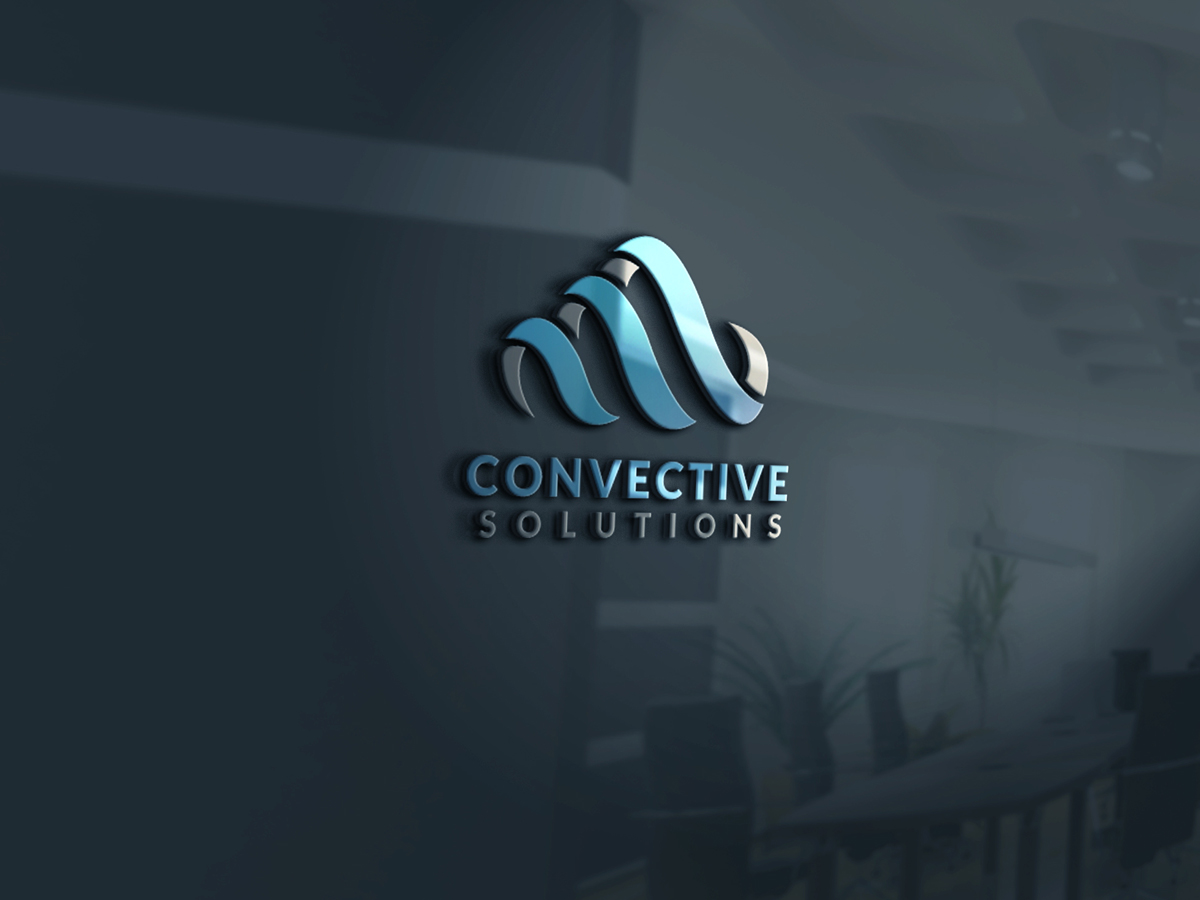 serious professional information technology logo design