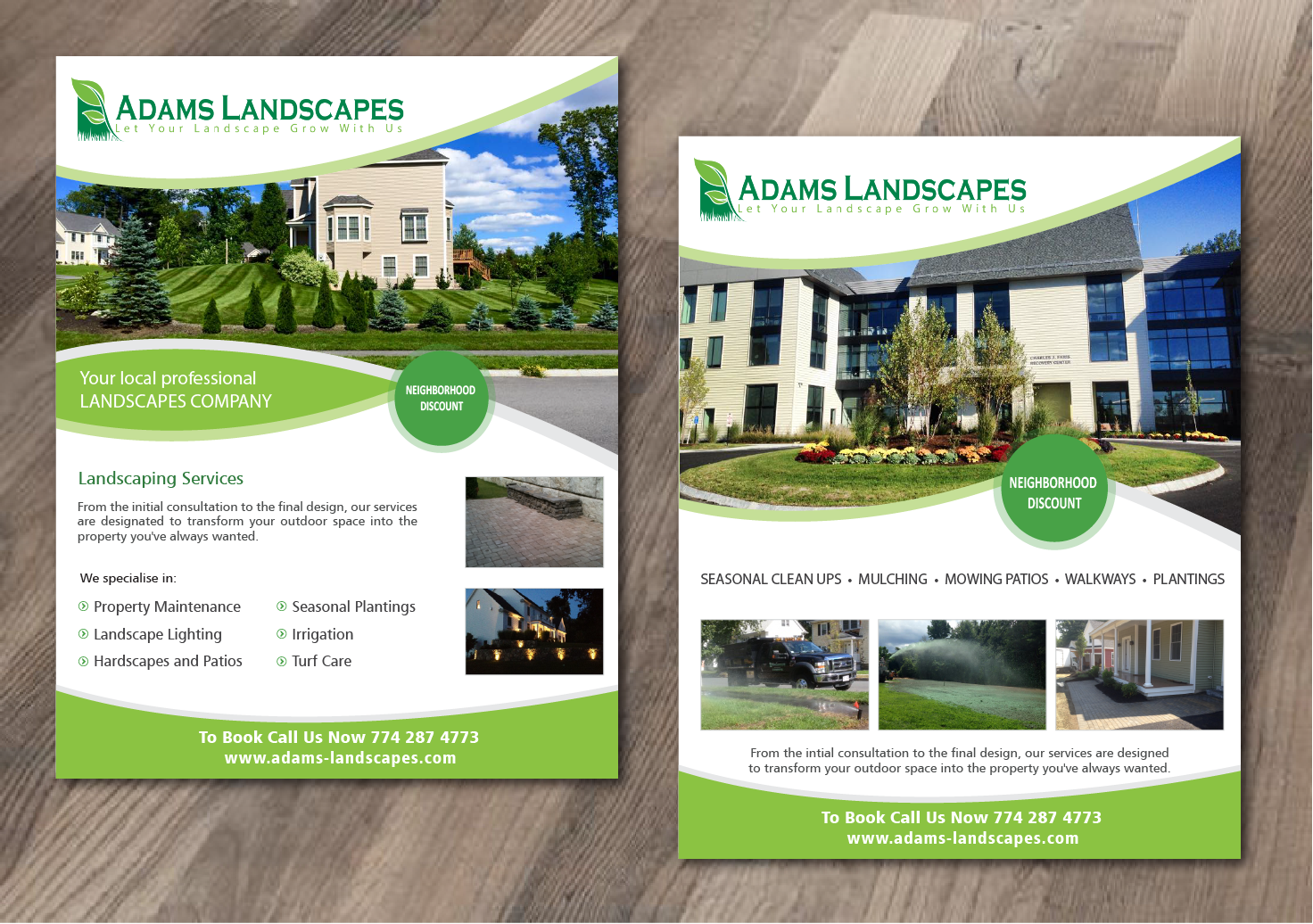 Professional, Bold Flyer Design for Adams Landscapes, LLC by ...