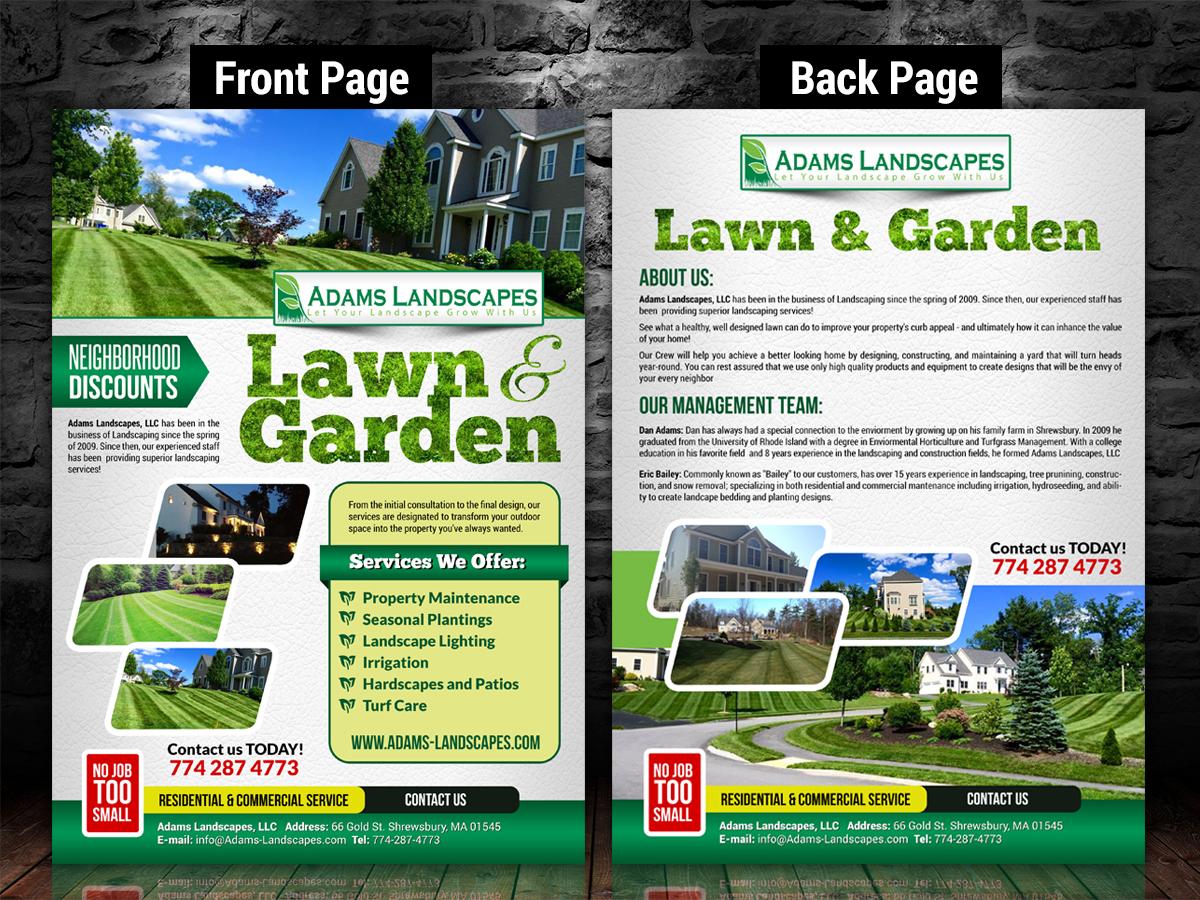 Professional Bold Flyer Design for Adams Landscapes LLC by SD – Sales Flyer Design