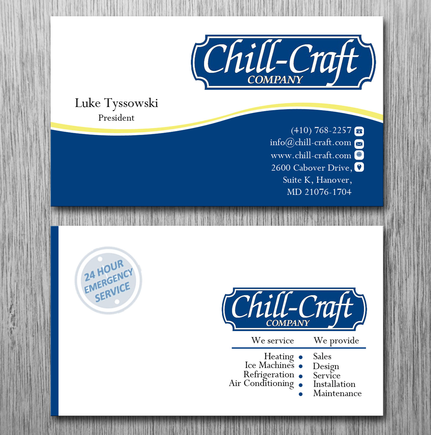 Modern professional business card design for chill craft company business card design by lanka ama for commercial hvac and refrigeration business cards design magicingreecefo Image collections