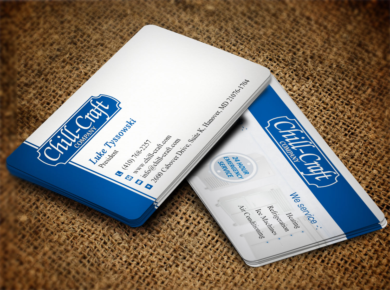 Modern, Professional, Hvac Business Card Design for Chill-Craft ...