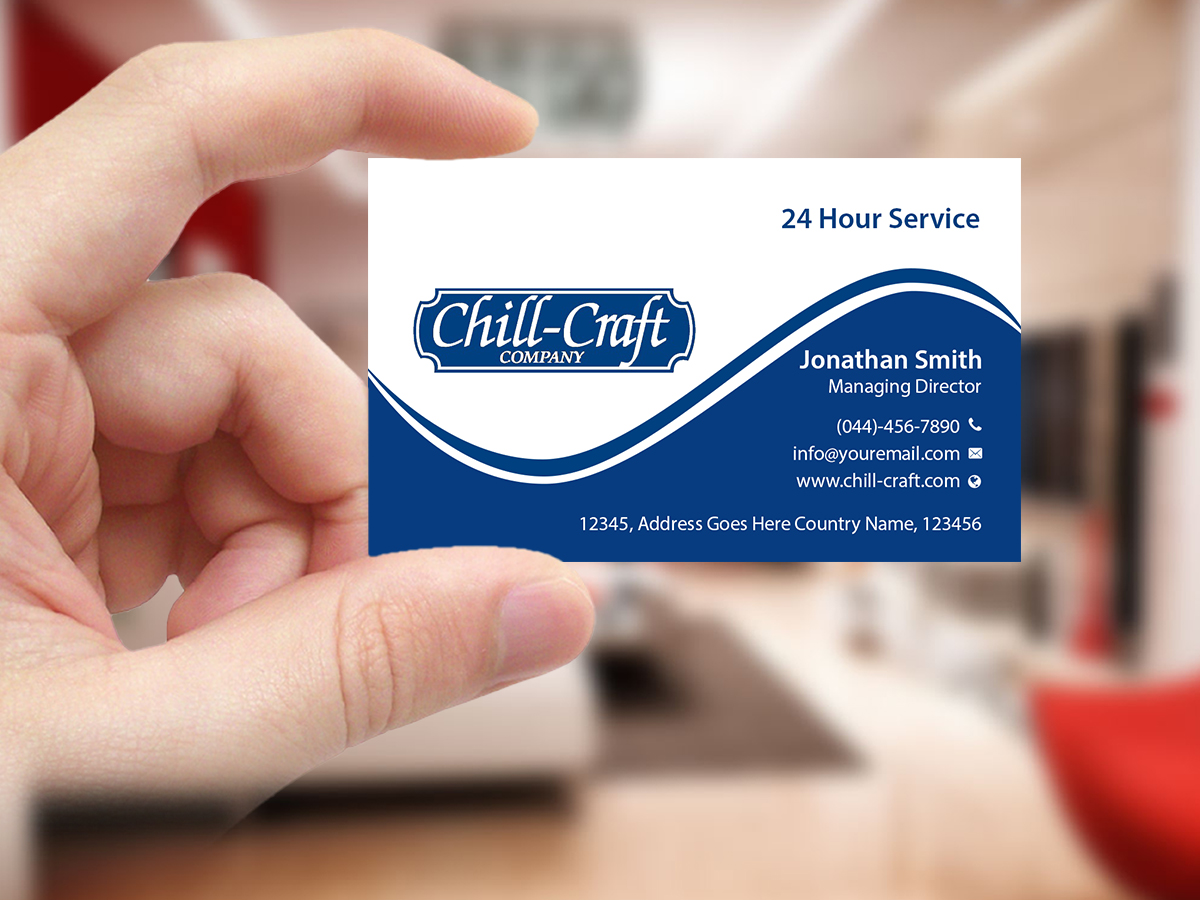Modern professional business card design for chill craft company business card design by creations box 2015 for commercial hvac and refrigeration business cards design magicingreecefo Image collections