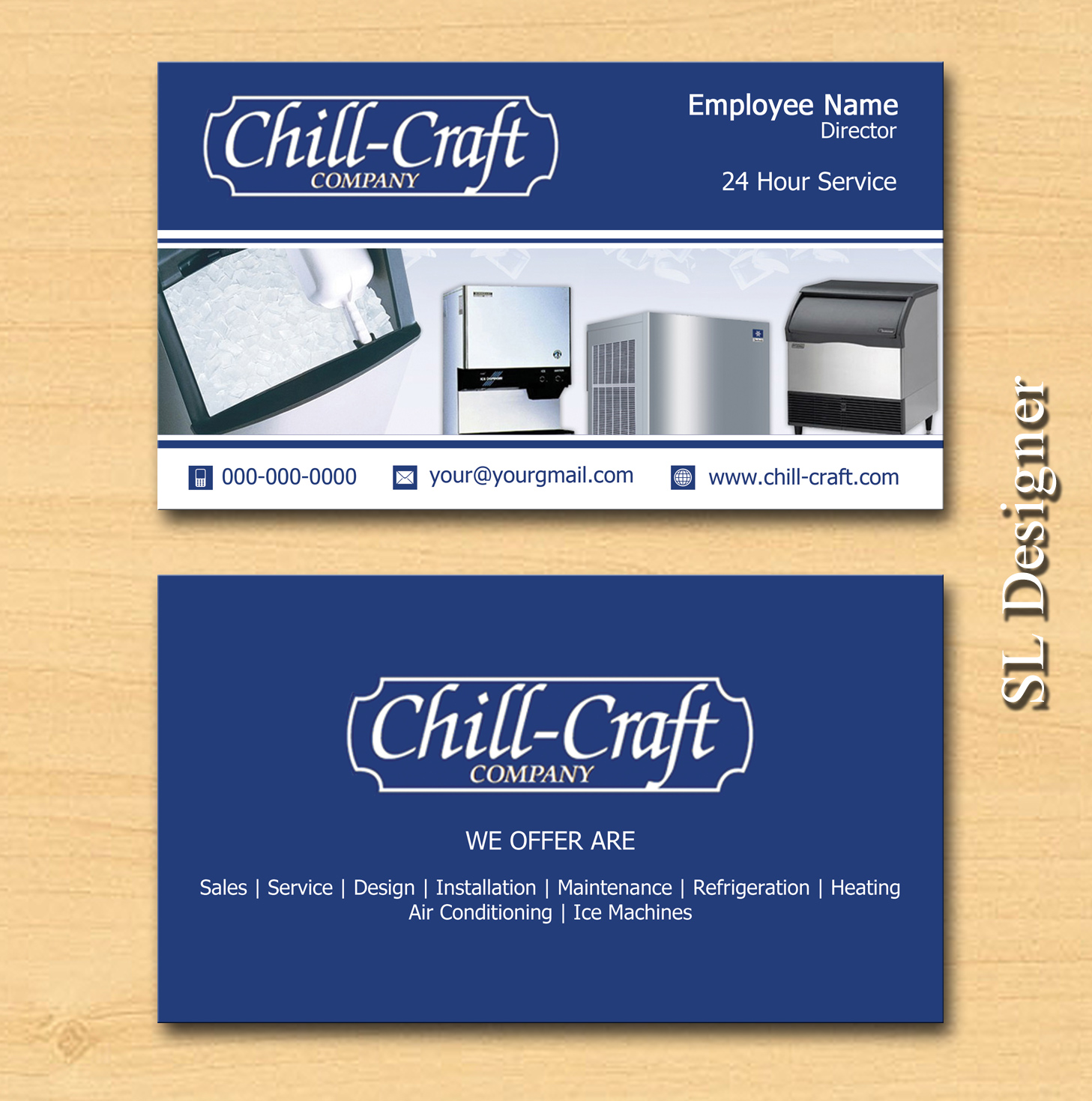 Modern, Professional Business Card Design for Chill-Craft Company ...